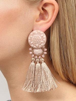Gina Tricot örhängen Peach Fabric Tassel Earrings