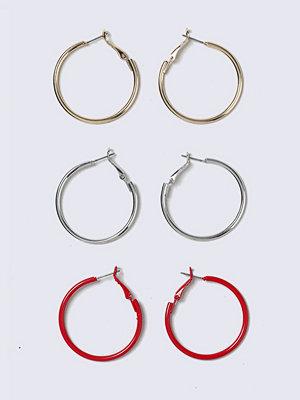 Gina Tricot örhängen Red Multi colour Hoop Earrings