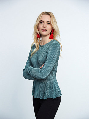 Gina Tricot Stacey pleated peplum top