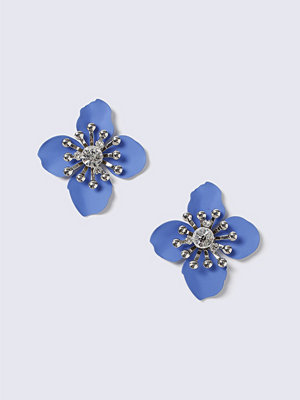 Gina Tricot örhängen Blue Flower Crystal Stud Earrings