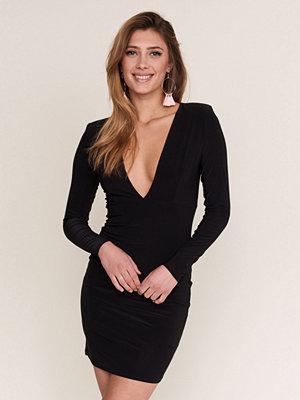Gina Tricot Deep V front klänning