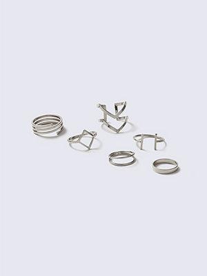Gina Tricot Geo Multi Ring Pack
