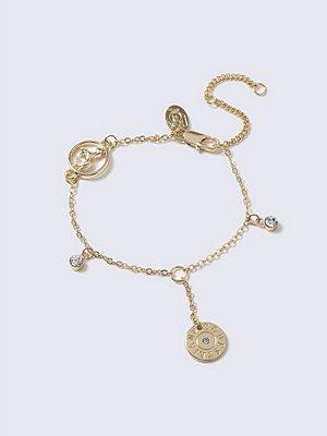 Gina Tricot armband Gold Charm Rhinestone Wristwear