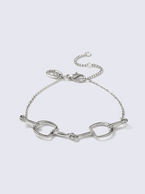 Gina Tricot armband Silver Horsebit Interlink Wristwear