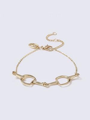 Gina Tricot armband Gold Horsebit Interlink Wristwear