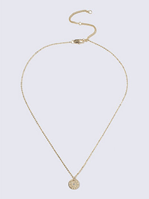 Gina Tricot halsband Gold Rhinestone Circle Ditsy Necklace