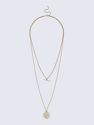 Gina Tricot halsband Antique Gold Coin Necklace