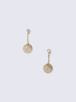 Gina Tricot örhängen Gold Chain Drop Rhinestone Earrings