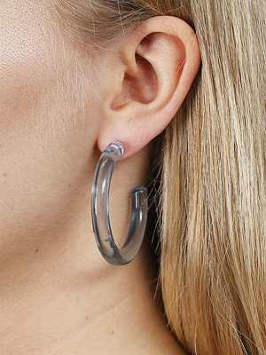 Gina Tricot örhängen Blue Resin Hoop Earrings