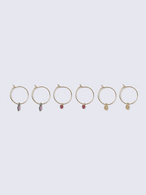 Gina Tricot örhängen Gold Look Charm Multipack Earrings