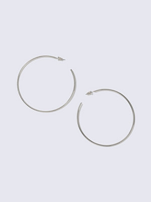 Gina Tricot örhängen Rhodium Open Hoop Earrings