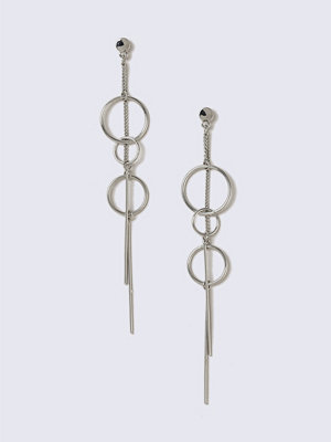 Gina Tricot örhängen Rhodium Link and Chain Drop Earrings