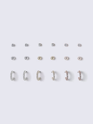 Gina Tricot örhängen Mixed Metal Multi Pack Earrings