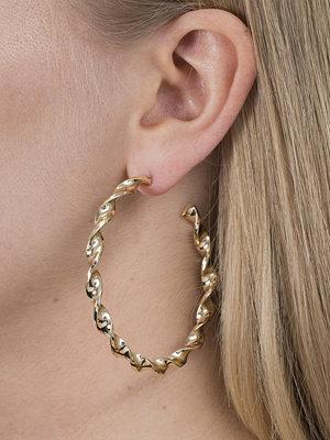 Gina Tricot örhängen Gold Twisted Hoop Earrings
