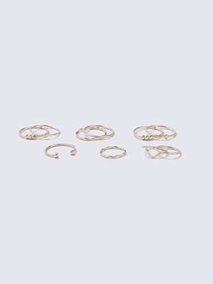 Gina Tricot Rose Gold Fine Ring Multipack