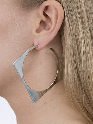 Gina Tricot örhängen Silver Square Cut Hoop Earrings