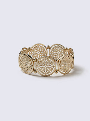 Gina Tricot armband Gold Look Filigree Stretch Bracelet