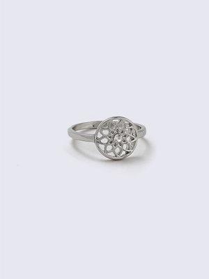 Gina Tricot Rhodium Dreamcatcher Rhinestone Ring