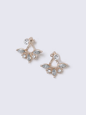Gina Tricot örhängen Rose Gold Front and Back Earrings