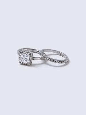 Gina Tricot Rhodium Multi Pack Rings