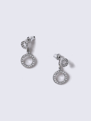 Gina Tricot örhängen Rhodium Front and Back Earrings