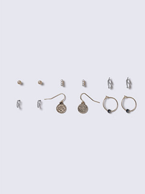 Gina Tricot örhängen Mixed Metal Coin And Leaf Earrings Pack