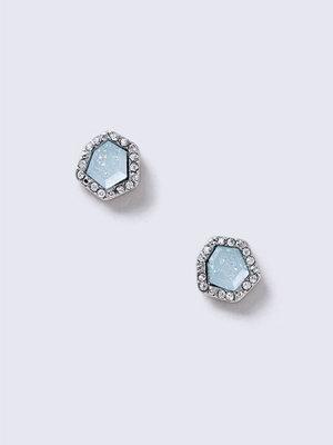 Gina Tricot örhängen Rhodium Blue Stud Earrings
