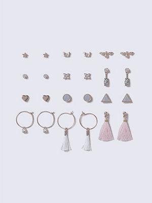 Gina Tricot örhängen Pastel Pink Tassel Mega Earrings Pack