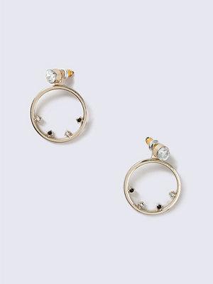 Gina Tricot örhängen Rhinestone Open Circle Earrings