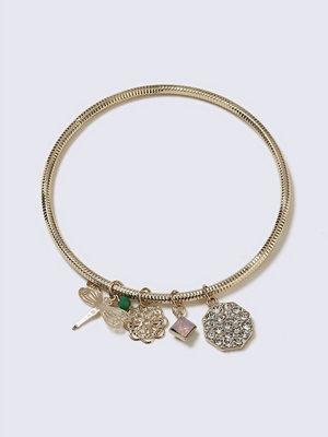 Gina Tricot armband Gold Look Pretty Charm Bangle
