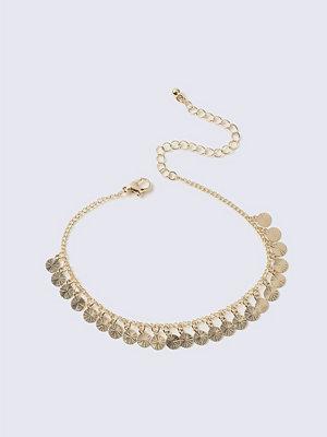 Gina Tricot smycke Gold Tassel Disk Anklet