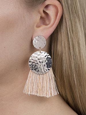 Gina Tricot örhängen Gold Studded Blush Tassel Earrings