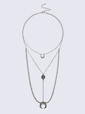 Gina Tricot halsband Rhodium Mini Horn Ladder Necklace