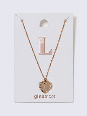 Gina Tricot halsband Rose Gold L Initial Heart Necklace