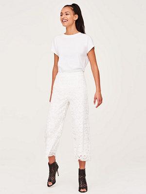 Gina Tricot vita byxor Tracy lace trousers