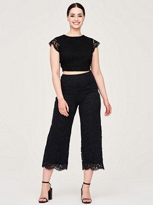 Gina Tricot svarta byxor Tracy lace trousers