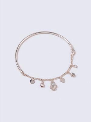 Gina Tricot armband Rose Gold Fatima Charm Bracelet