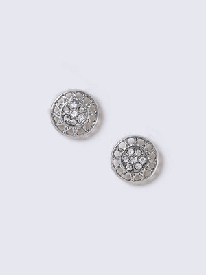 Gina Tricot örhängen Silver Star Engraved Studs
