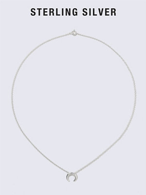 Gina Tricot halsband Sterling Silver Horn Ditsy