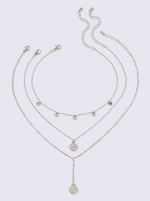 Gina Tricot halsband Gold Coin Y-Neck Choker