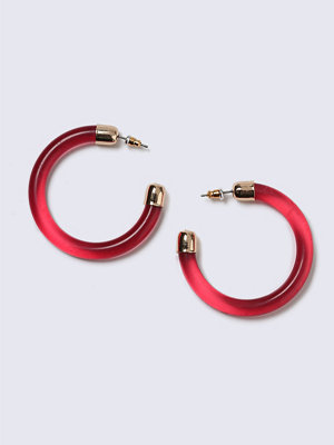 Gina Tricot örhängen Red Resin Hoop Earrings