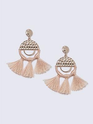 Gina Tricot örhängen Thread Wrap Peach Tassel Earrings