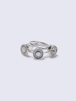 Gina Tricot Silver Circle Stone Ring