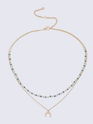 Gina Tricot halsband Turquise Bead and Horn Ditsy
