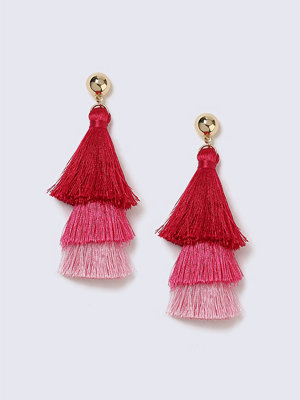 Gina Tricot örhängen Pink Tiered Tassel Earrings