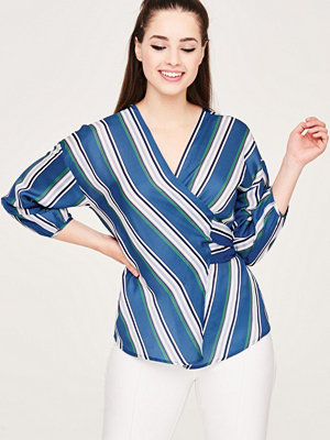 Gina Tricot Liv striped wrap blouse