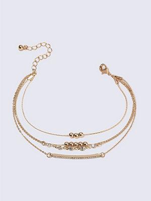 Gina Tricot armband Rhinestone Bar Bracelet Multipack