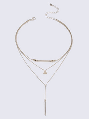 Gina Tricot halsband Gold Look T-Bar  Multi Row Necklace