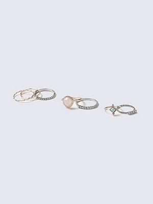 Gina Tricot Pretty Stone Ring Multipack