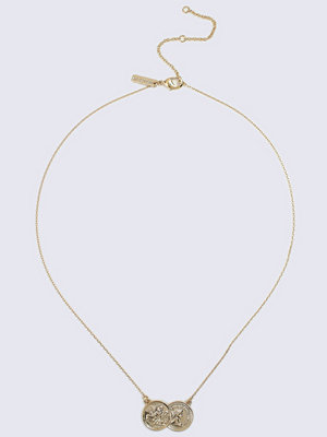 Gina Tricot halsband Gold Look Double Coin Ditsy  Necklace